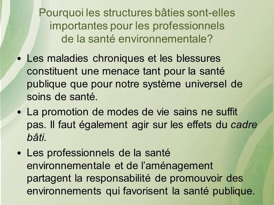 Pourquoi les structures bâties sont-elles importantes pour les professionnels de la santé environnementale