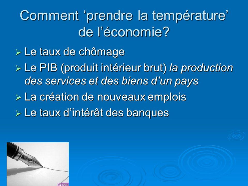 Comment 'prendre la température' de l'économie