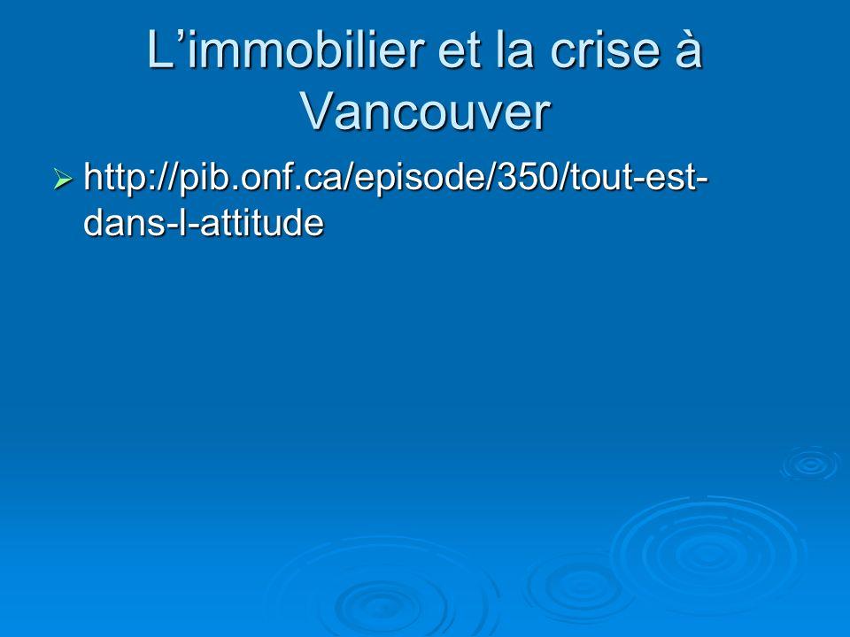 L'immobilier et la crise à Vancouver