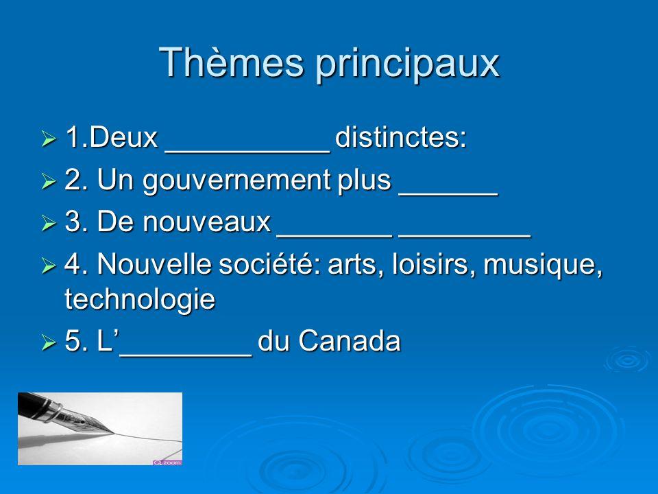 Thèmes principaux 1.Deux __________ distinctes: