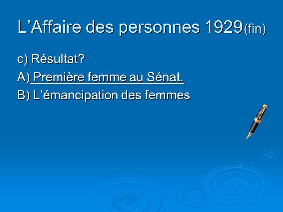 L'Affaire des personnes 1929 (fin)