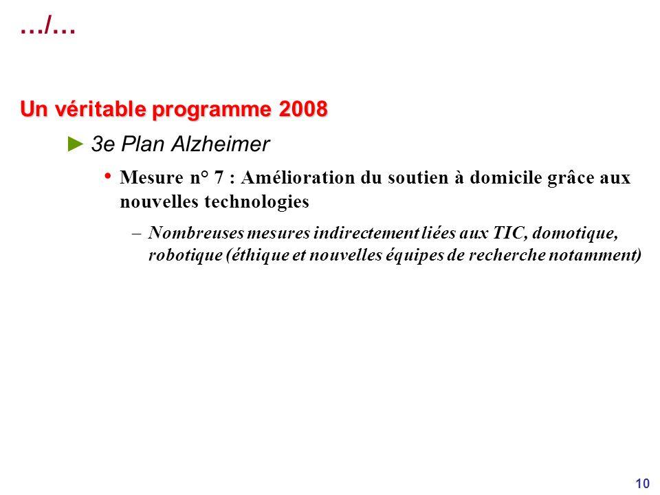 …/… Un véritable programme 2008 3e Plan Alzheimer
