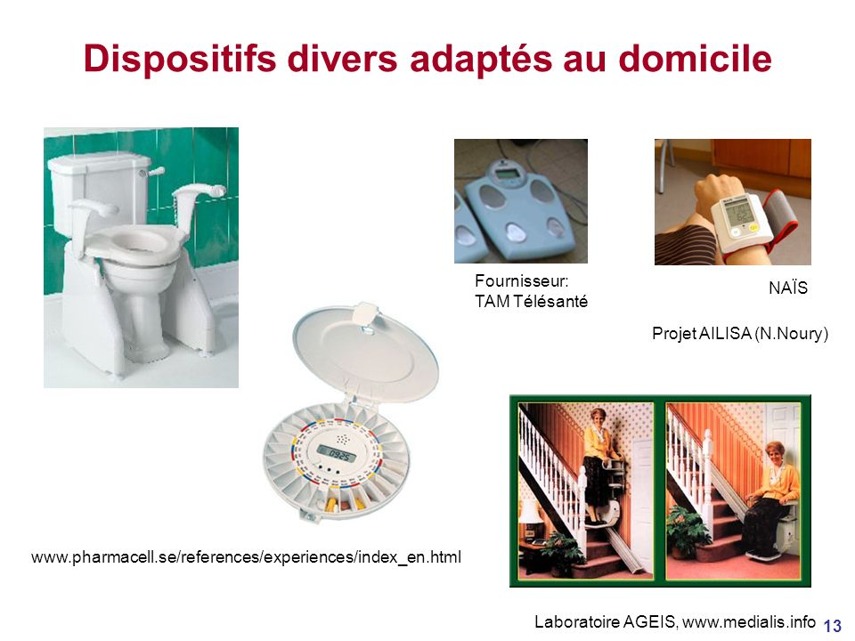 Dispositifs divers adaptés au domicile
