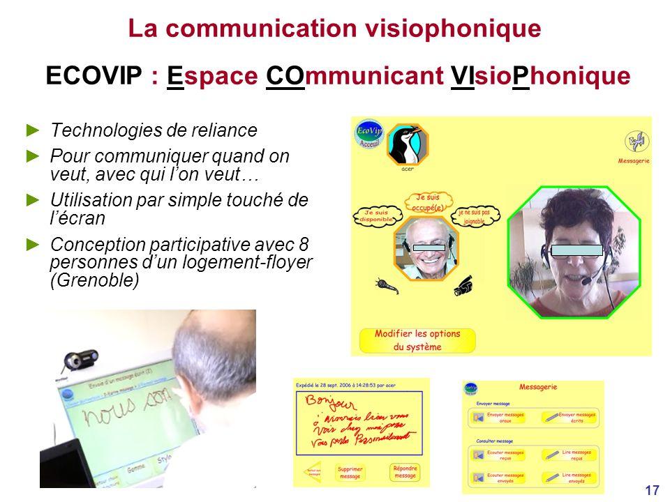 La communication visiophonique ECOVIP : Espace COmmunicant VIsioPhonique
