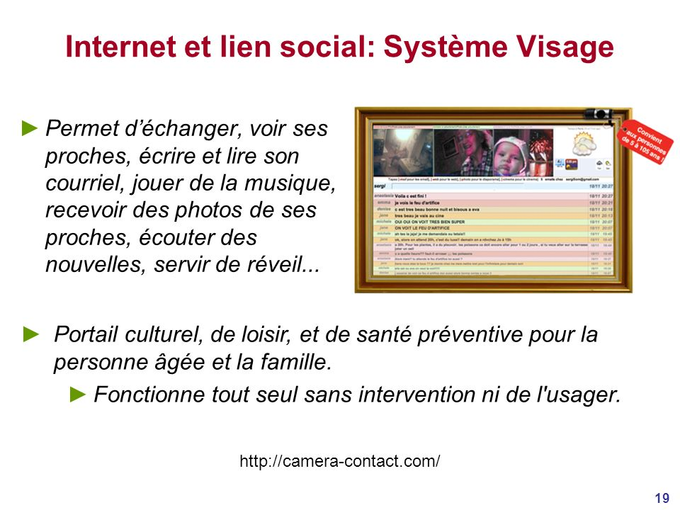Internet et lien social: Système Visage