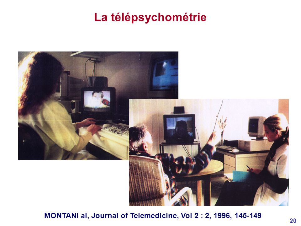 La télépsychométrie MONTANI al, Journal of Telemedicine, Vol 2 : 2, 1996, 145-149