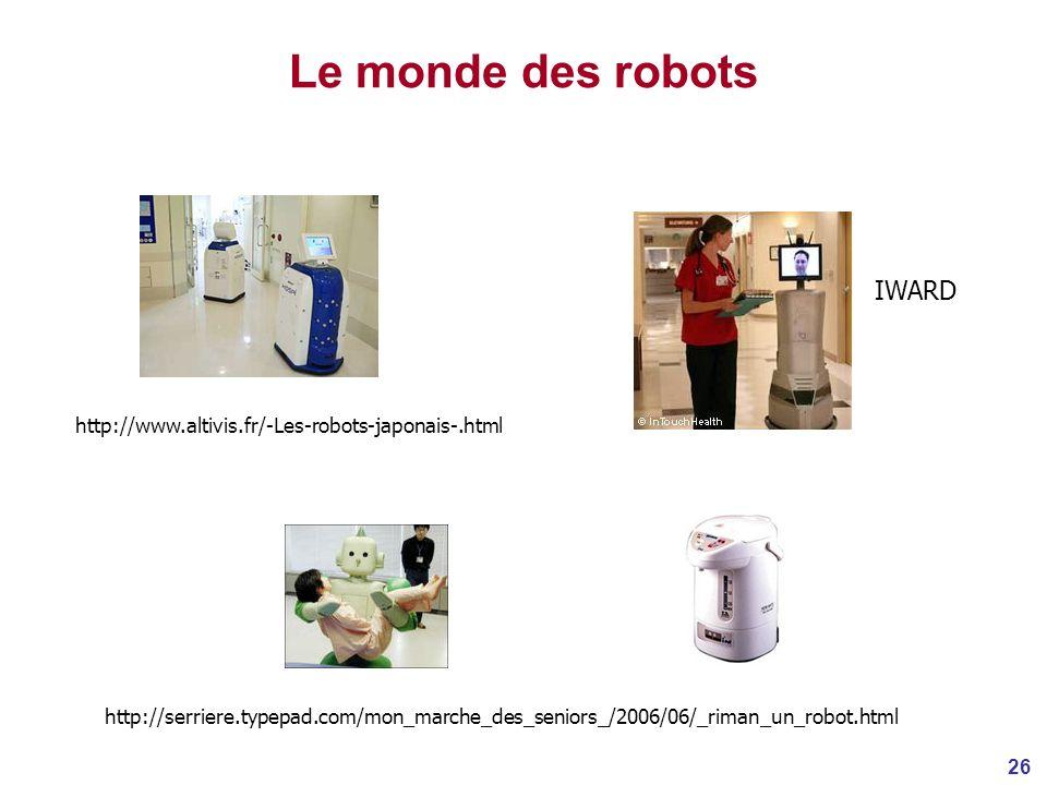 Le monde des robots IWARD