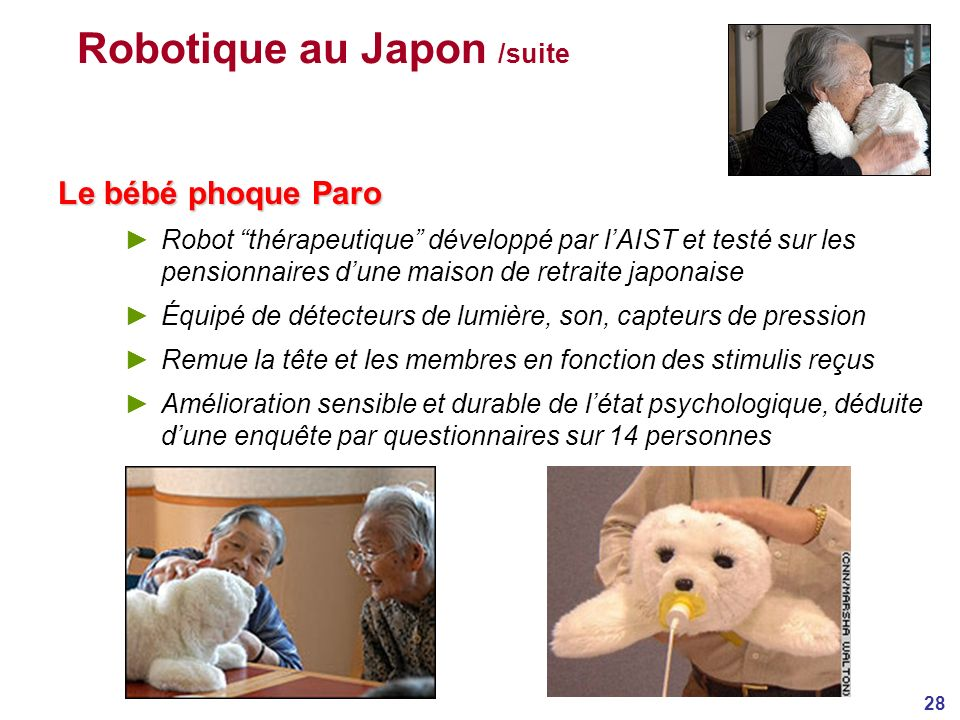 Robotique au Japon /suite
