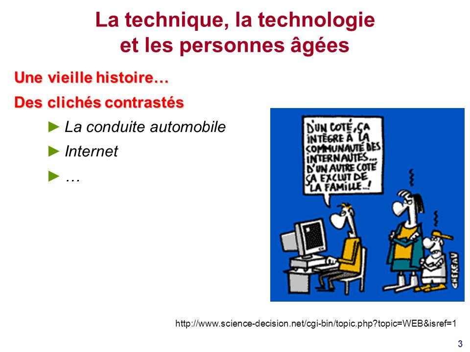 La technique, la technologie et les personnes âgées