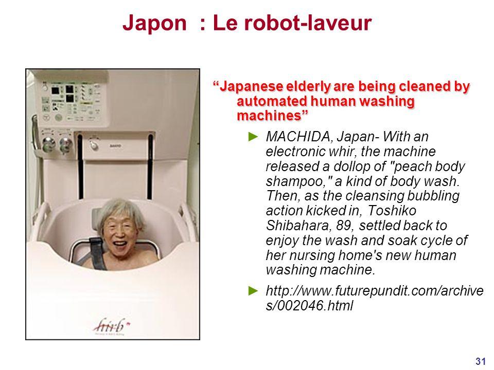 Japon : Le robot-laveur