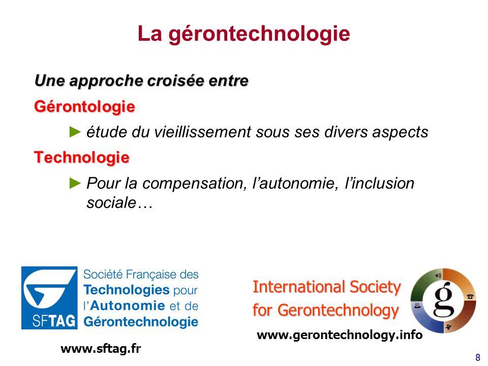 La gérontechnologie Une approche croisée entre Gérontologie