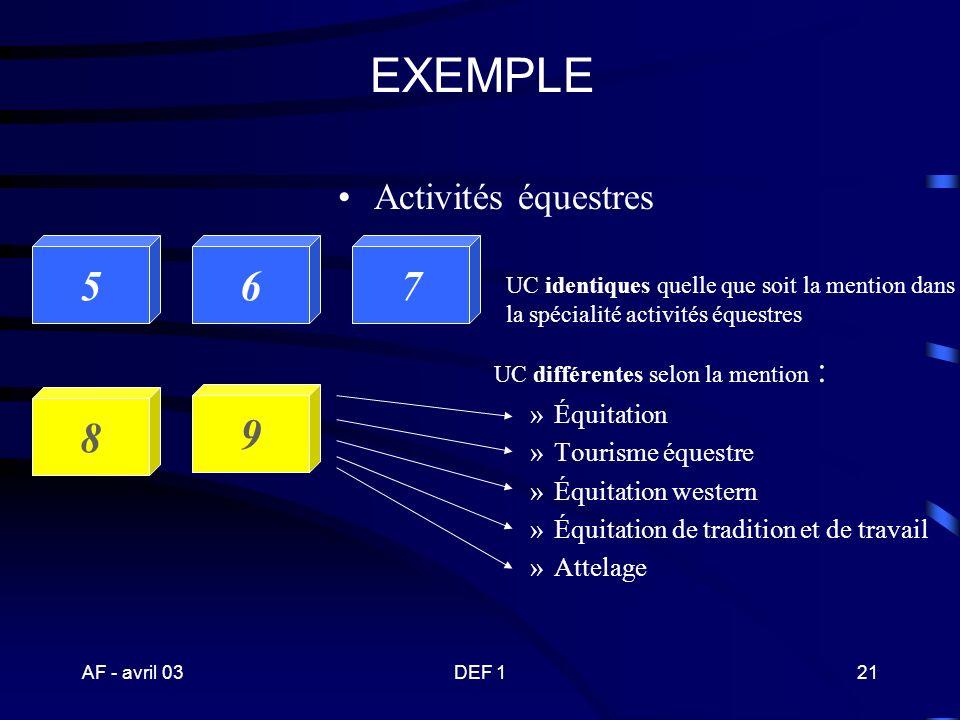 EXEMPLE 5 6 7 8 9 Activités équestres Équitation Tourisme équestre