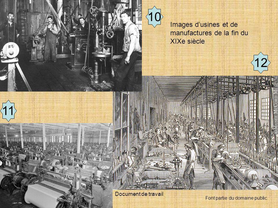 10 12 11 Images d'usines et de manufactures de la fin du XIXe siècle