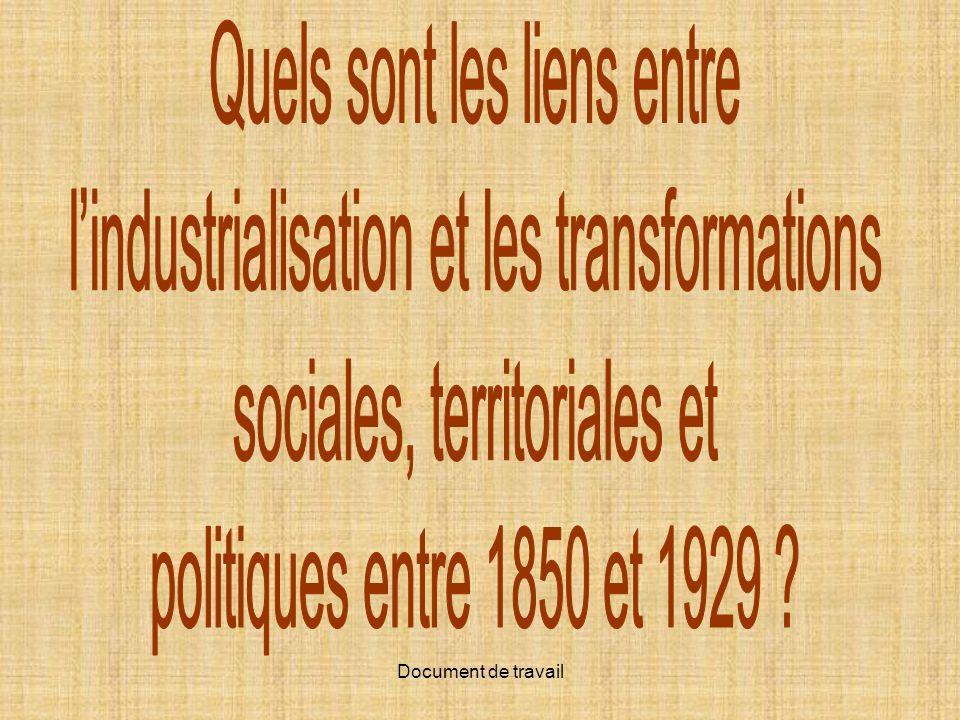 Quels sont les liens entre l'industrialisation et les transformations