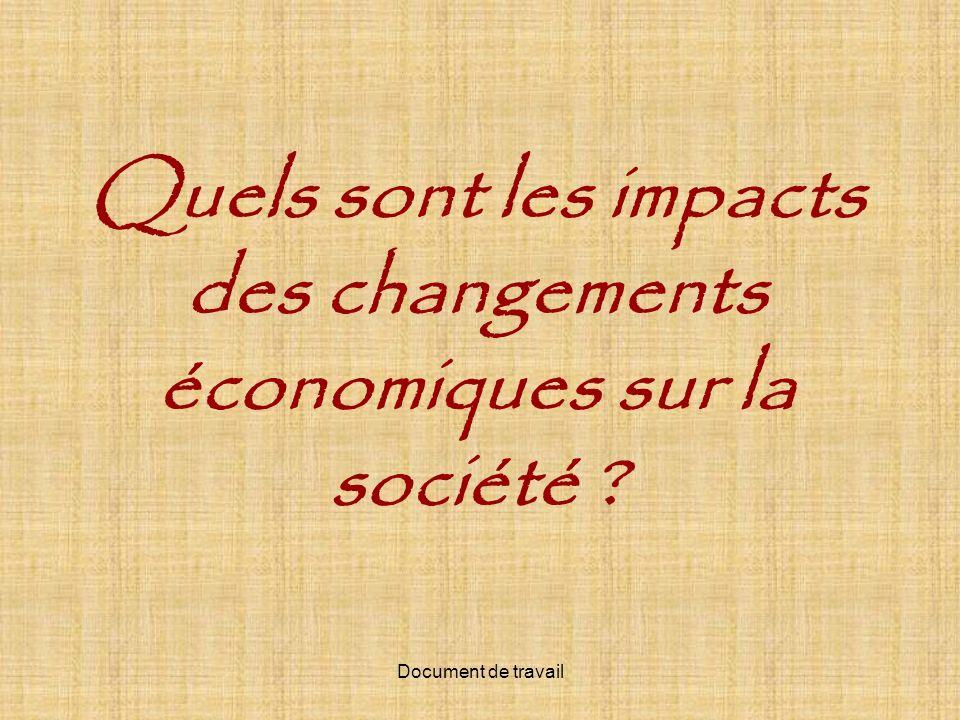 Quels sont les impacts des changements économiques sur la société