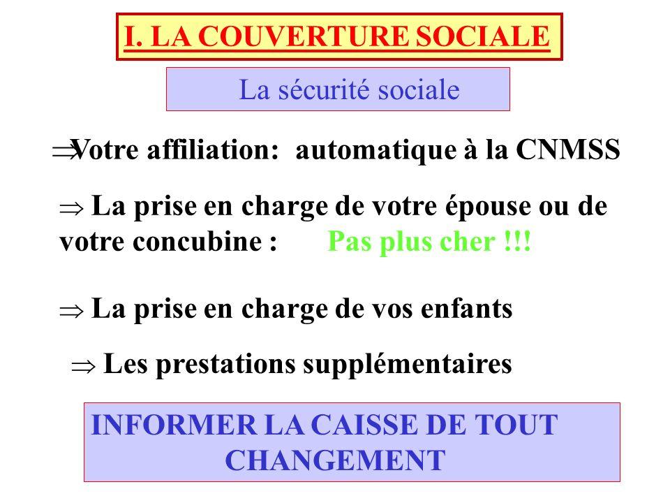 I. LA COUVERTURE SOCIALE