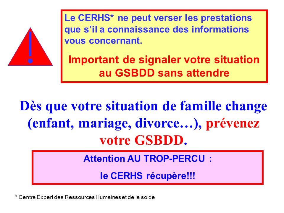 Important de signaler votre situation au GSBDD sans attendre