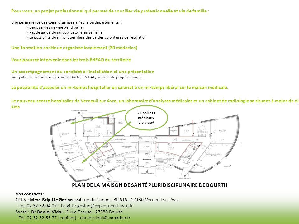 PLAN DE LA MAISON DE SANTÉ PLURIDISCIPLINAIRE DE BOURTH