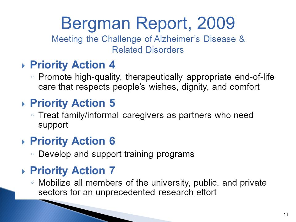 Meeting the Challenge of Alzheimer's Disease &