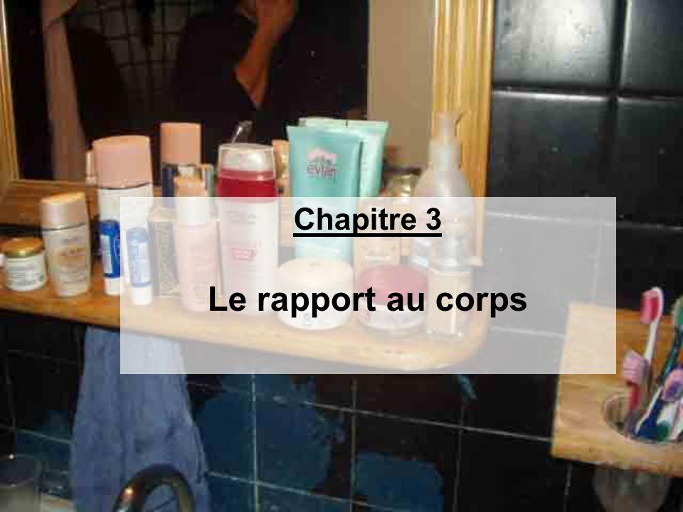 Chapitre 3 Le rapport au corps