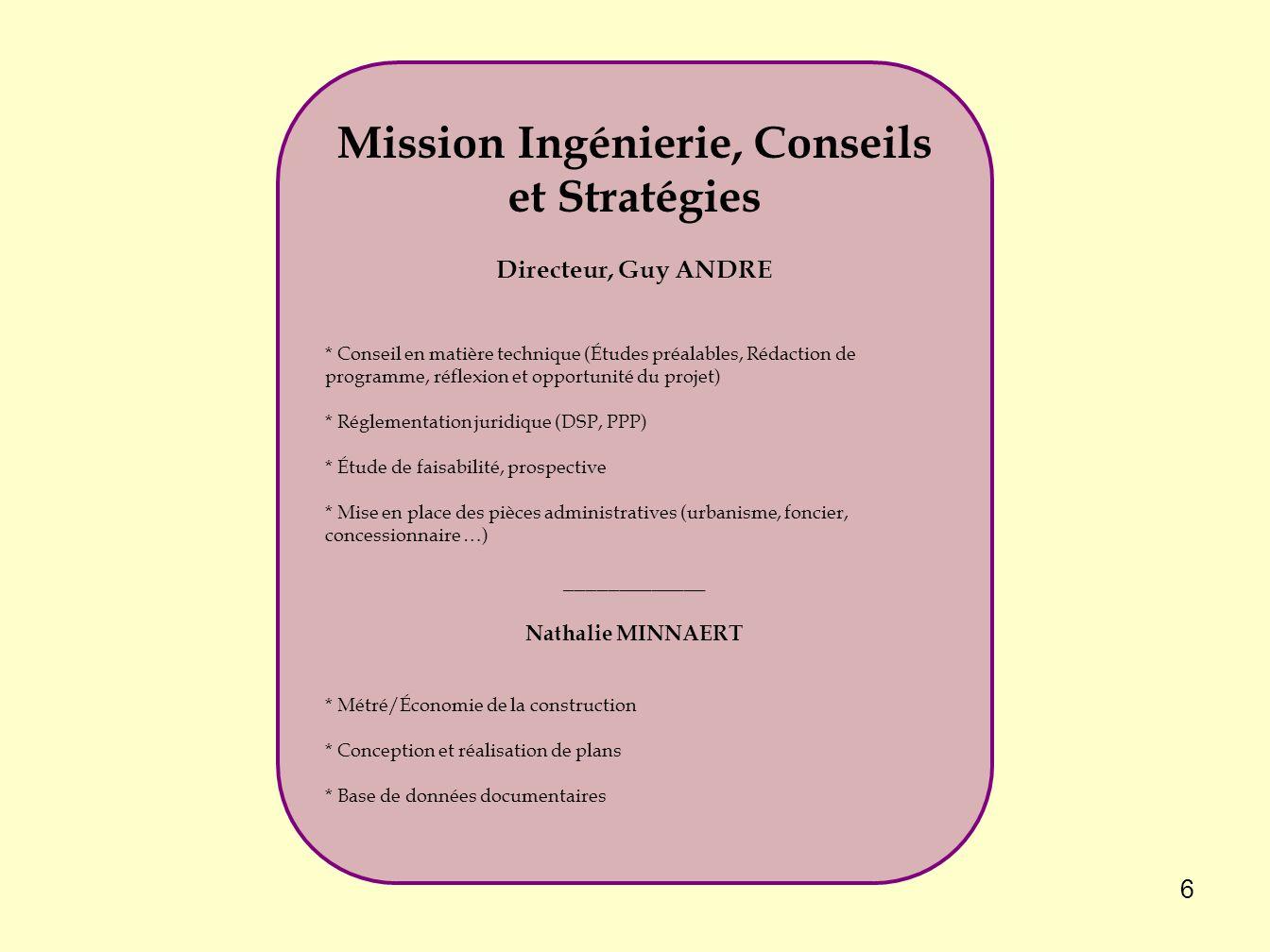 Mission Ingénierie, Conseils et Stratégies