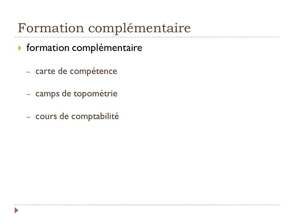 Formation complémentaire