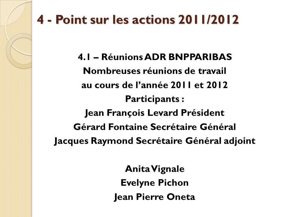 4 - Point sur les actions 2011/2012