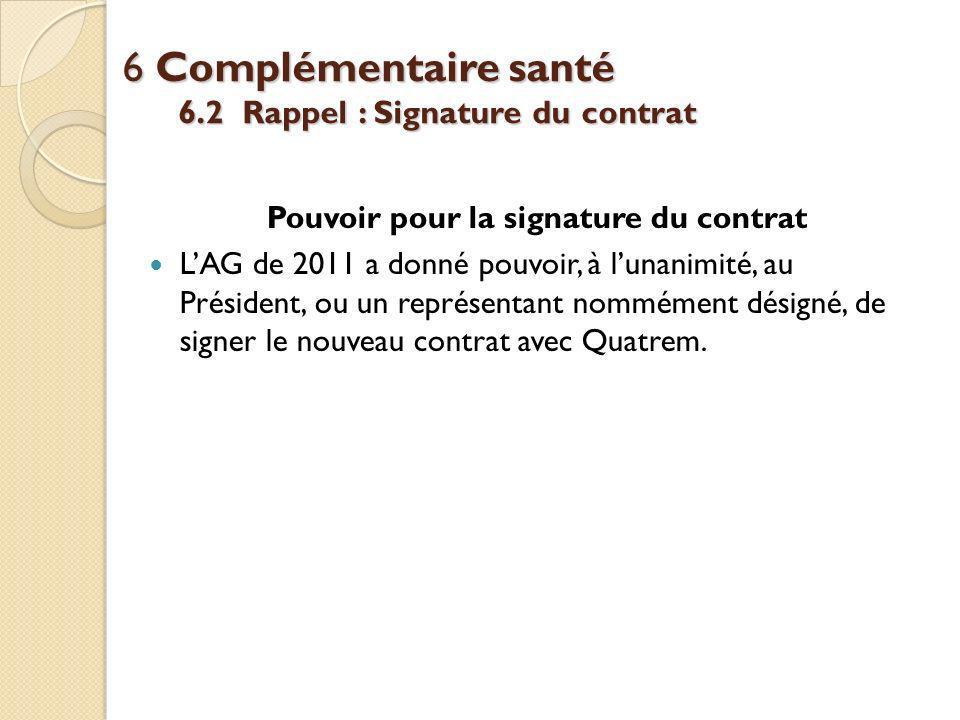 6 Complémentaire santé 6.2 Rappel : Signature du contrat