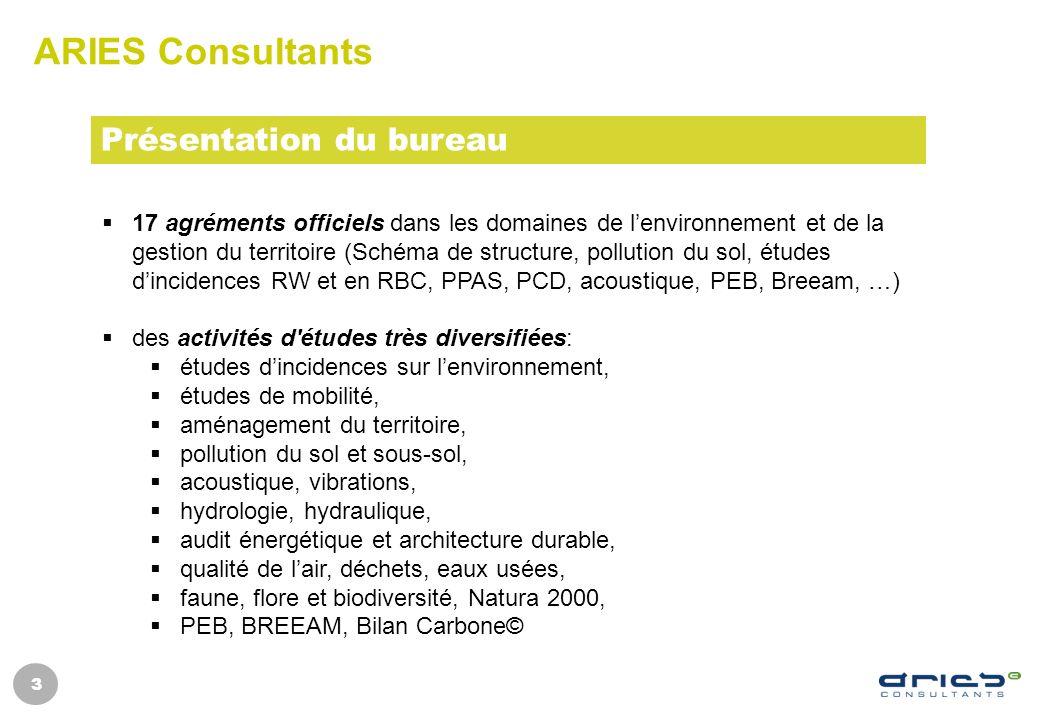 ARIES Consultants Présentation du bureau