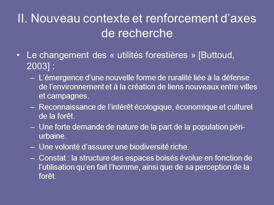 II. Nouveau contexte et renforcement d'axes de recherche