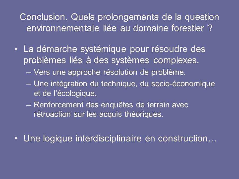 Une logique interdisciplinaire en construction…