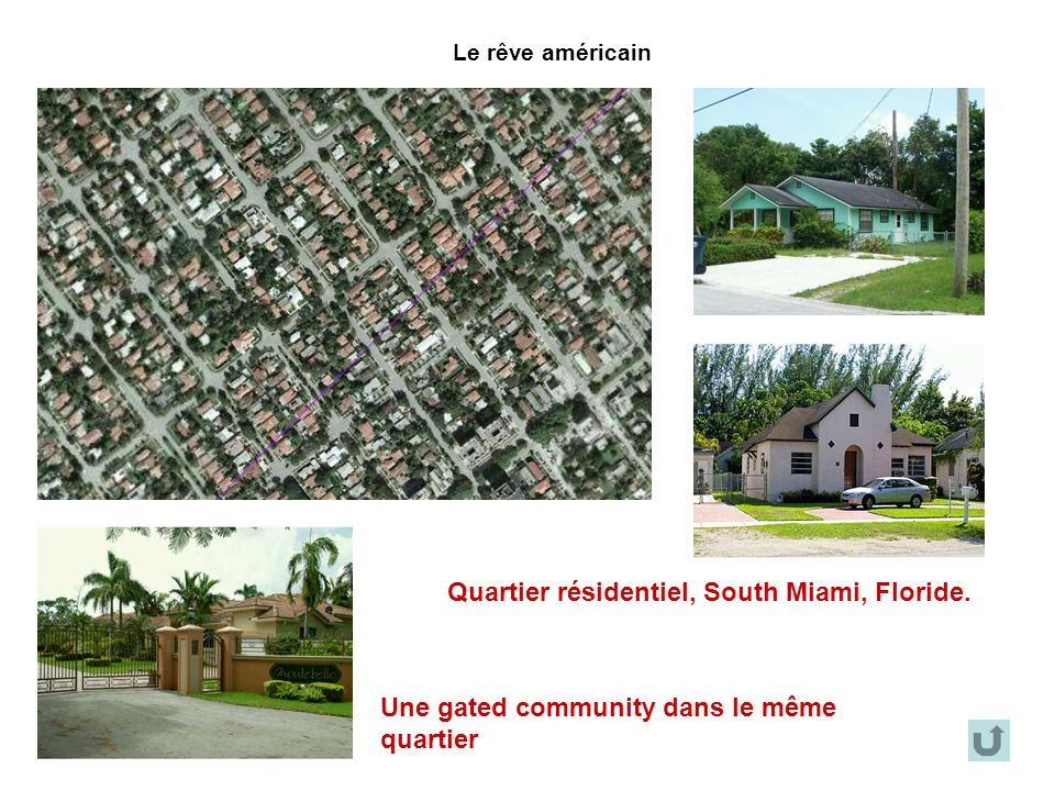 Quartier résidentiel, South Miami, Floride.
