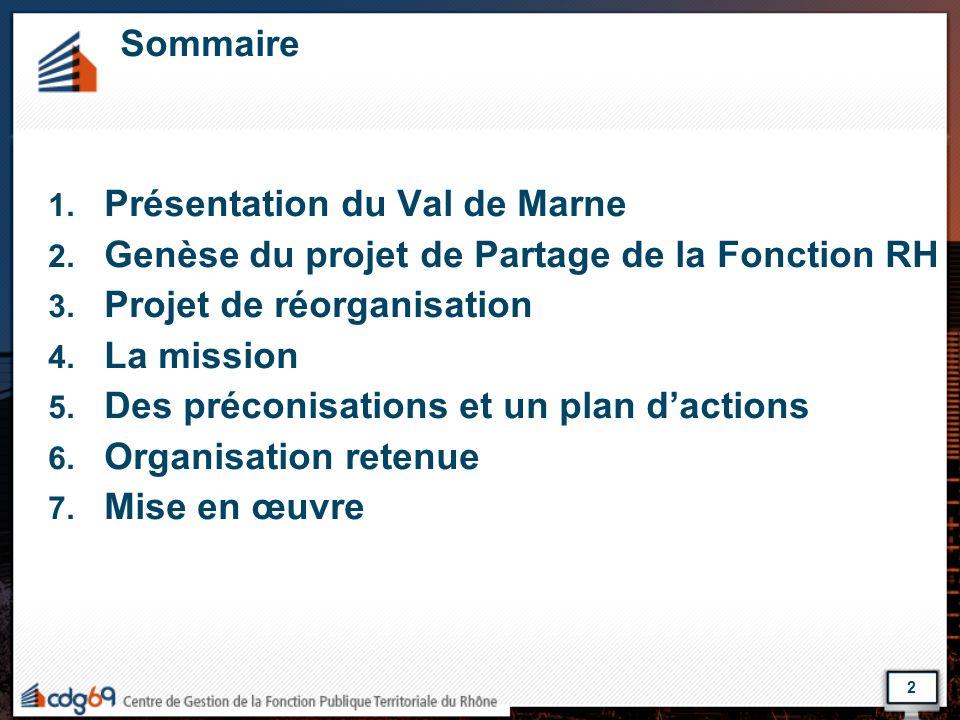 Présentation du Val de Marne