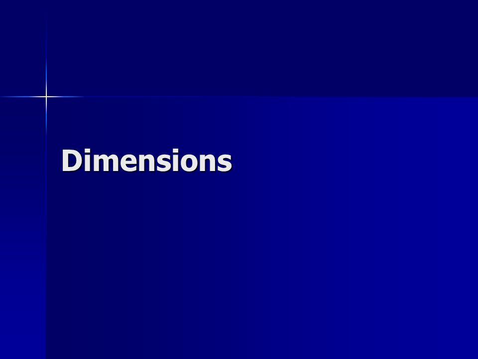 Dimensions Mise en garde sur les résultats
