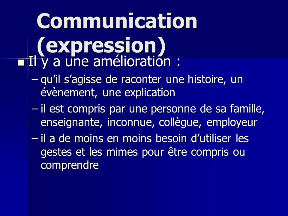 Communication (expression)