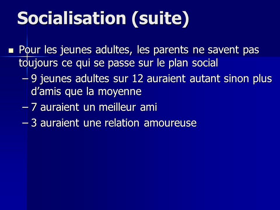 Socialisation (suite)