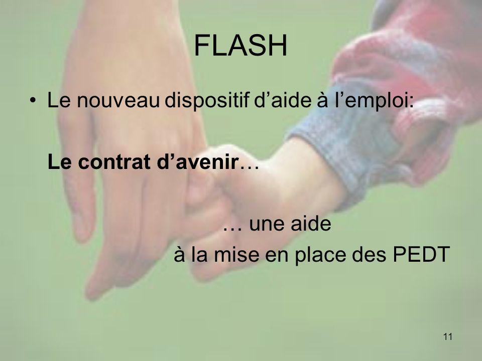 FLASH Le nouveau dispositif d'aide à l'emploi: Le contrat d'avenir…