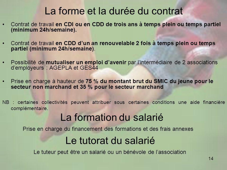 La forme et la durée du contrat