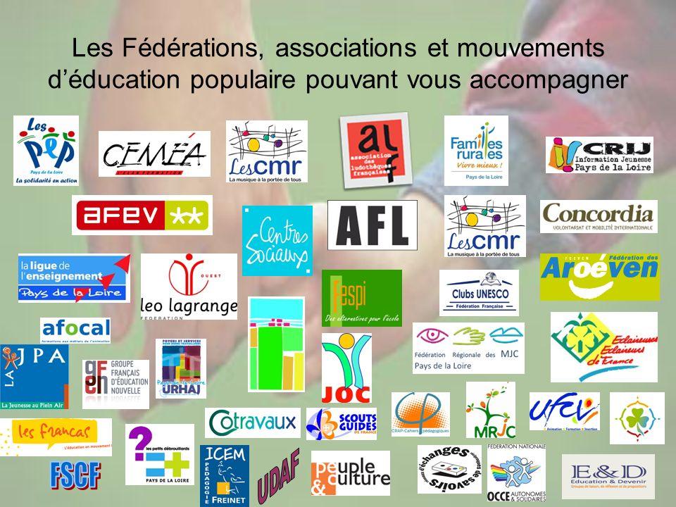 Les Fédérations, associations et mouvements d'éducation populaire pouvant vous accompagner