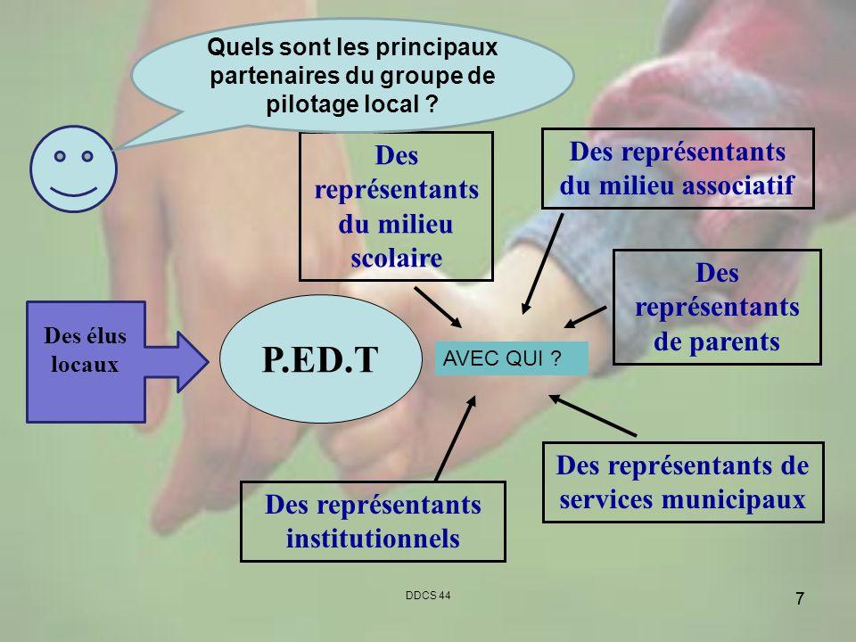 P.ED.T Des représentants du milieu associatif