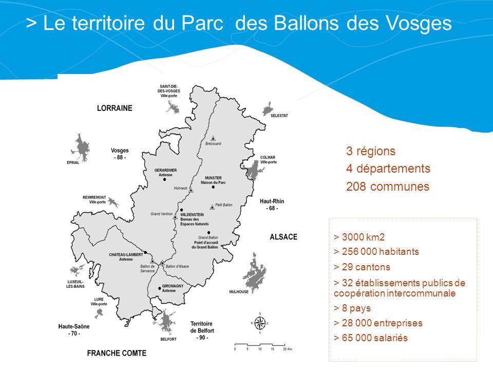 > Le territoire du Parc des Ballons des Vosges