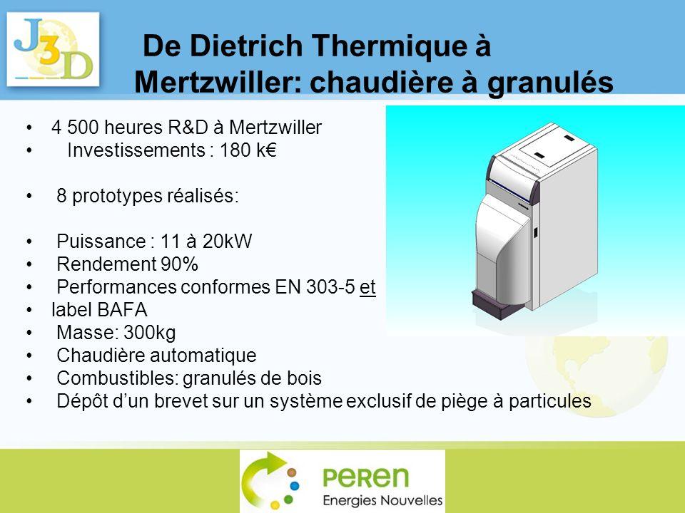 De Dietrich Thermique à Mertzwiller: chaudière à granulés