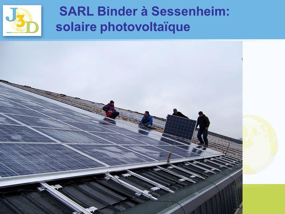 SARL Binder à Sessenheim: solaire photovoltaïque
