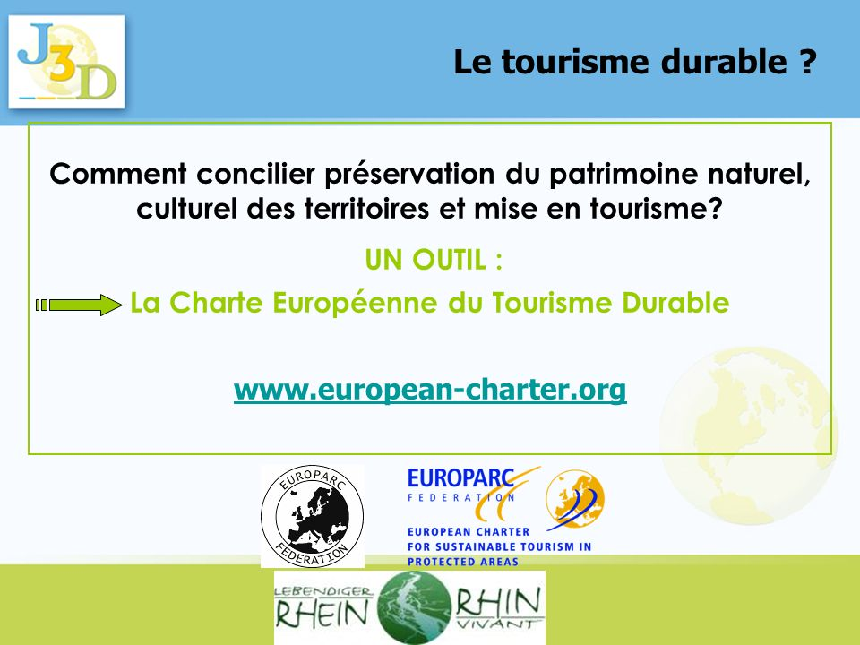 La Charte Européenne du Tourisme Durable