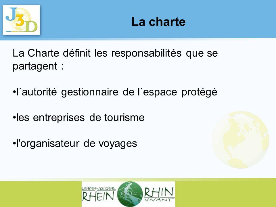 La charte La Charte définit les responsabilités que se partagent :