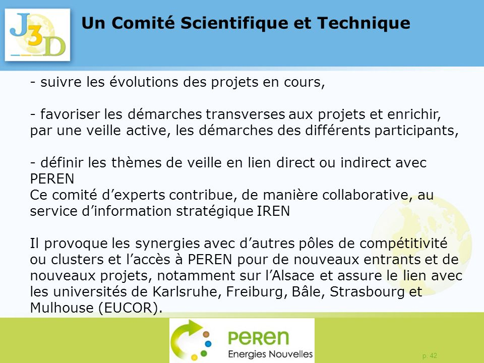 Un Comité Scientifique et Technique
