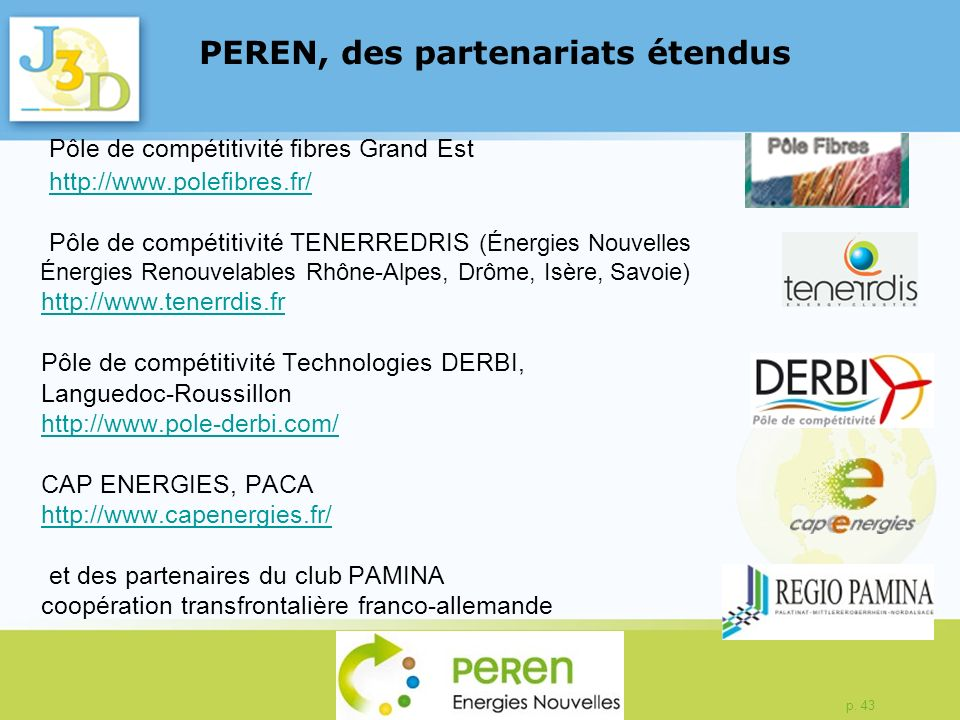 PEREN, des partenariats étendus