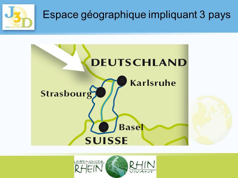 Espace géographique impliquant 3 pays
