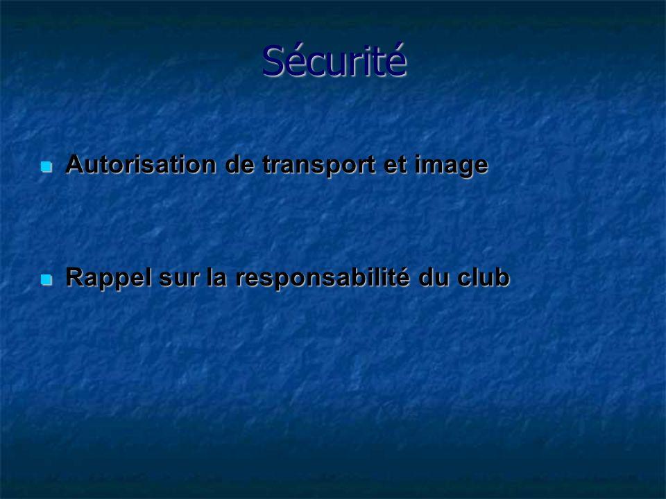 Sécurité Autorisation de transport et image