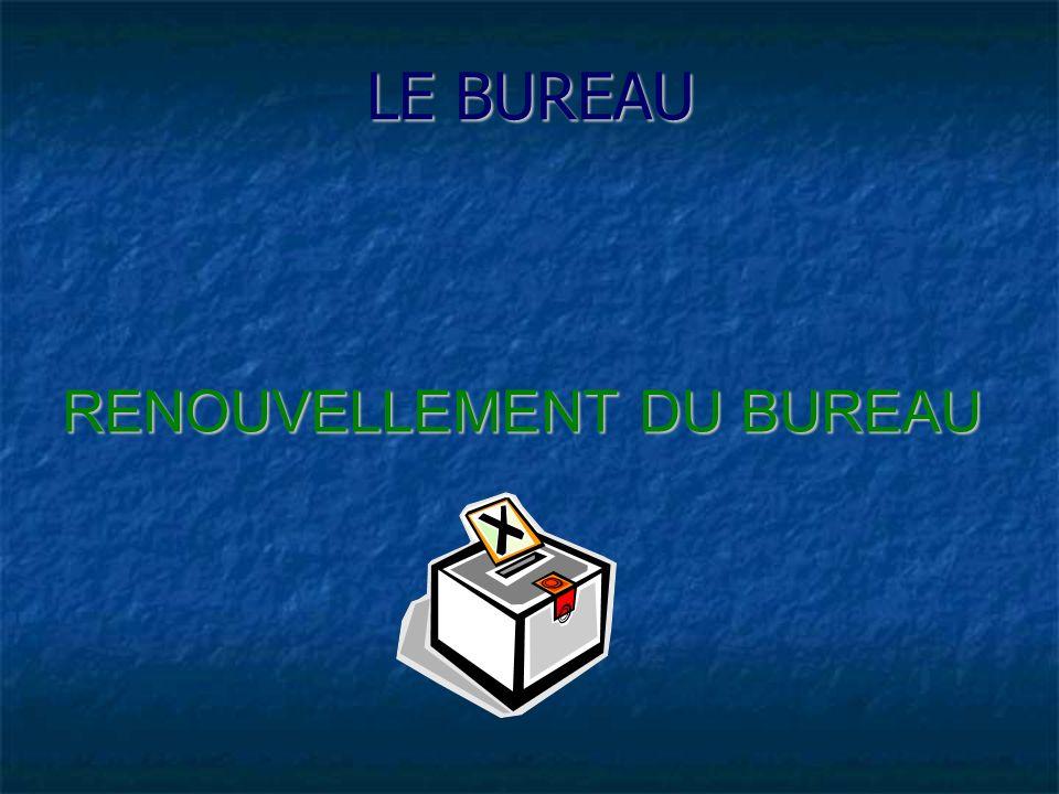 RENOUVELLEMENT DU BUREAU